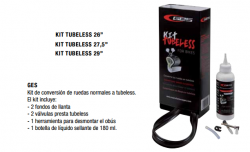 KIT CONVERSION TUBELESS GES